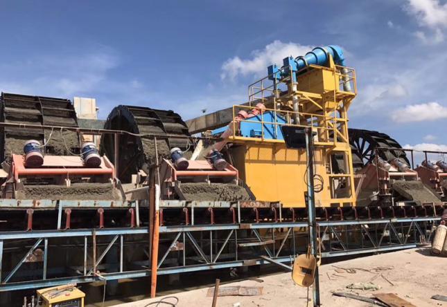 广东江门市新会区沙堆镇益捷建材时产800吨